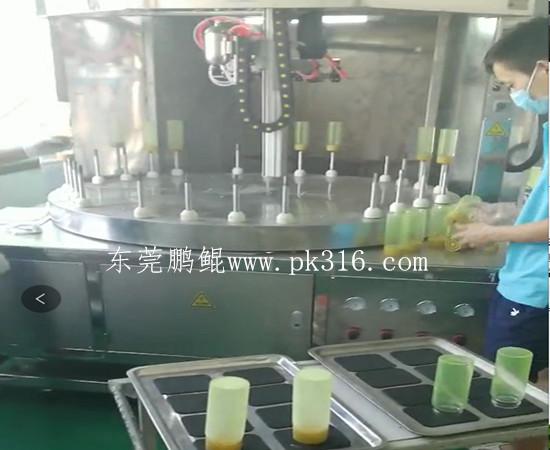 硅胶玻璃杯自动喷漆机1