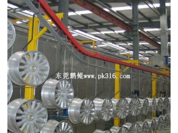 上海汽车轮毂喷涂生产线,不同的工艺方法!