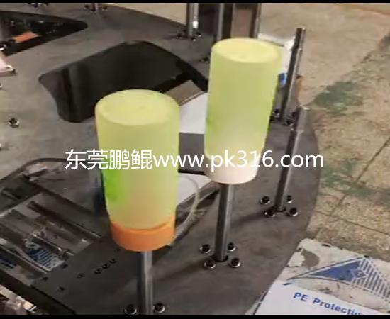 玻璃奶瓶硅胶漆自动喷涂设备