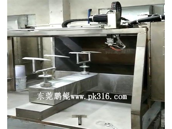 汽车行李架自动喷漆机对工件喷漆后进入烤漆前需要注意什么?