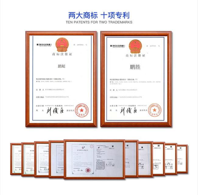 两大商标十项专利