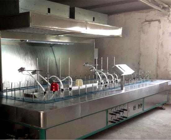 磨砂漆自动喷油设备