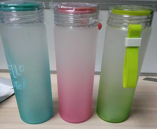 玻璃杯磨砂漆自动喷油设备2