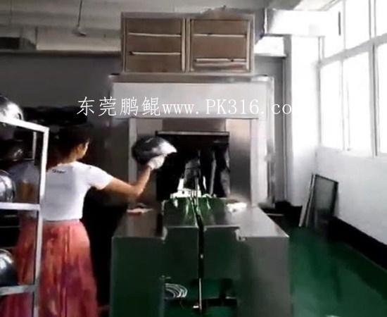 军盔UV自动喷涂生产线2