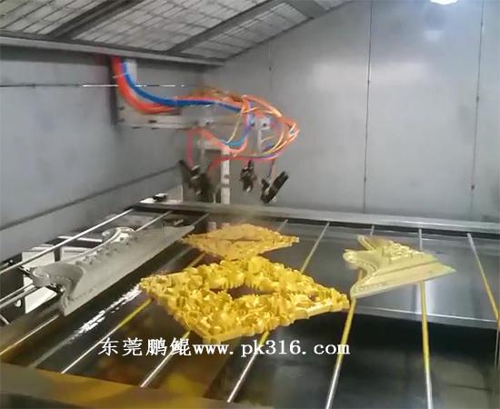 塑胶自动流水线平面喷漆机