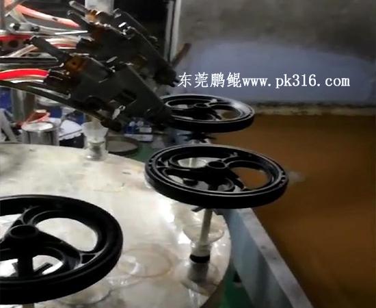 橡胶塑料玩具车轮自动喷涂设备1