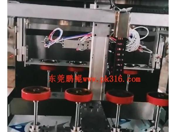 中山工业脚轮喷涂设备可同时喷4个!