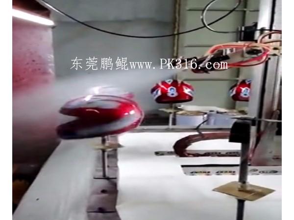 喷漆机,摩托头盔自动喷漆机喷涂的工艺步骤---鹏鲲,鹏胜