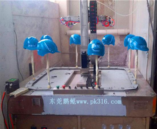 浙江头盔液体喷漆流水线 (2)