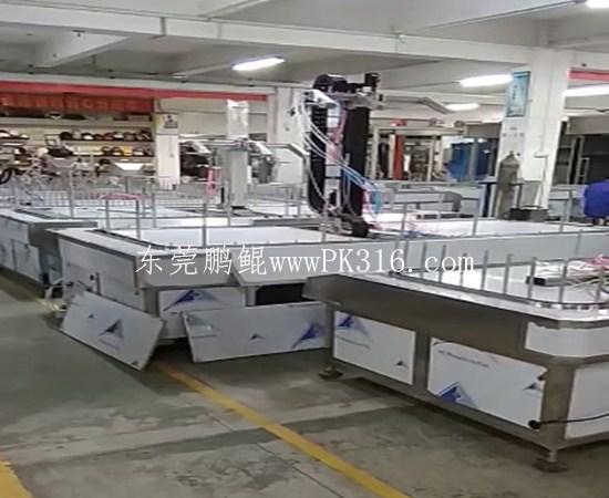 自动化喷涂地轨生产线