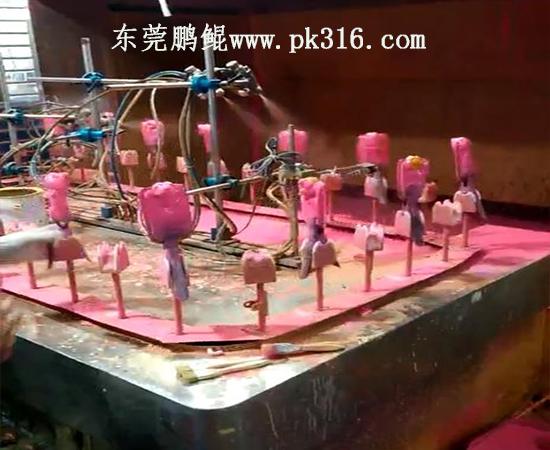 塑胶玩具喷油机
