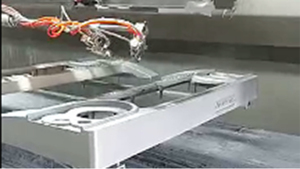 电子琴地轨式喷烤流水线