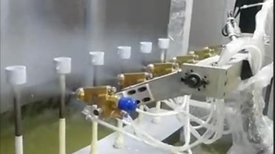 开孔器自动喷涂设备