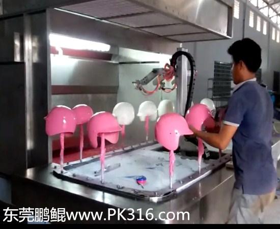 军用盔自动喷漆机