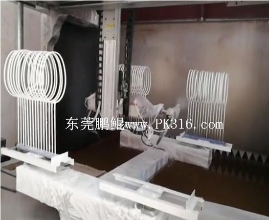 延长羽毛球拍自动喷涂生产线