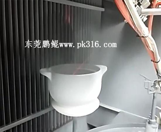 砂锅自动喷漆机.
